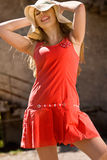 Hot young girl at summer day Royalty Free Stock Photography