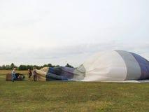 Hotair ballonger, Litauen Arkivfoto