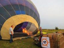 Hotair ballonger, Litauen Arkivbilder
