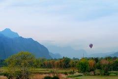 Hotair balloon on the sky Royalty Free Stock Photos