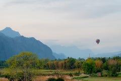 Hotair balloon on the sky Stock Photography
