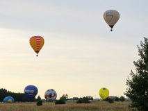 Hotair balloons, Lithuania Royalty Free Stock Photos