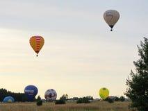 Hotair balloons, Lithuania Royalty Free Stock Photos