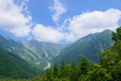 Hotaka-Berge in Kamikochi, Nagano, Japan Lizenzfreie Stockbilder