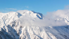 Hotaka-Berglandschaft am shinhotaka, Japan-Alpen im Winter Stockbild