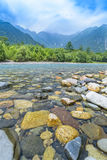 Hotaka Mountain and Azusa River in Kamikochi, Nagano, Japan Stock Photography