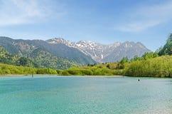 Free Hotaka Mountain Range And Taisho Ike Pond In Spring At Kamikochi Nagano Japan Stock Photo - 81213530