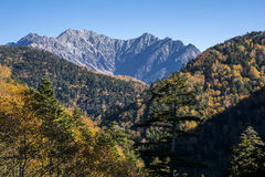 Hotaka mountain range Stock Images