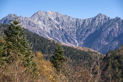 Hotaka mountain range Stock Photos