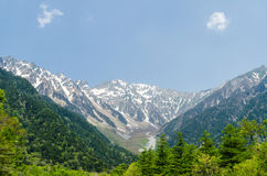 Hotaka mountain range in spring at kamikochi national park nagano japan Stock Photography