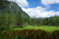 Hotaka mountains in Kamikochi Stock Photo