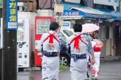 HOTARU, HOKKAIDO, JAPÓN -26 JULIO DE 2014: Porciones de peo no identificado Fotos de archivo