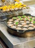 Hotcake doce tailandês do arroz do coco Fotografia de Stock