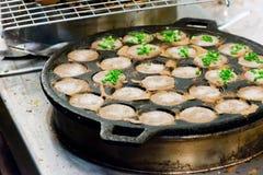 Hotcake doce tailandês do arroz do coco Imagem de Stock