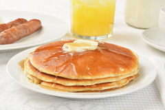 Hotcakes and syrup Stock Image