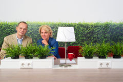 Hotdesking coworkers Royalty Free Stock Images