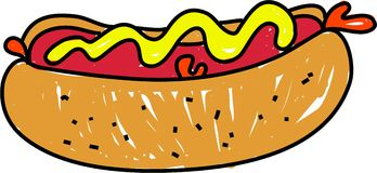 Hotdog vector illustratie