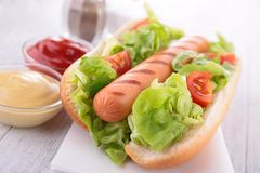 Hotdog Royaltyfri Bild