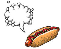 Hotdog-100 Photographie stock