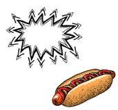 Hotdog-100 Photo libre de droits
