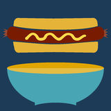 Hotdog Bun. Royalty Free Stock Photos
