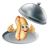 Hotdog Cartoon Character Royalty Free Stock Image