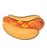 Hotdog cartoon Stock Images