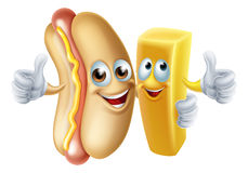 Hotdog and Chip Mascots Stock Photography