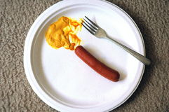 Hotdog en mosterd Royalty-vrije Stock Foto