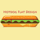 Hotdog Flat Design Royalty Free Stock Photo