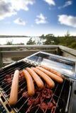 hotdog grilla Obrazy Royalty Free
