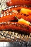 hotdog grilla obraz stock