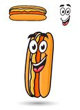 Hotdog with a happy goofy smile Stock Image