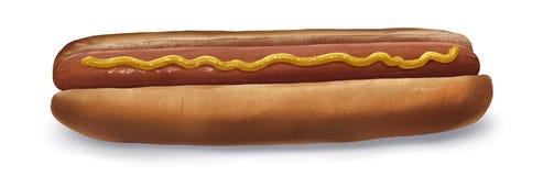 Hotdog - het Digitale Schilderen Stock Foto