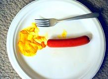 Hotdog i musztarda Zdjęcia Stock