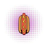 Hotdog icon in comics style Stock Images
