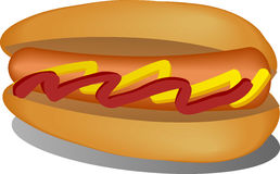 Hotdog illustration Royalty Free Stock Image
