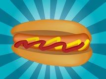 Hotdog illustration stock illustration