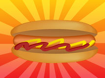 Hotdog illustration Stock Photo