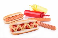 Hotdog isolated Stock Photography