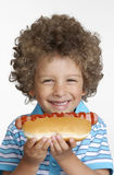 Hotdog kid. Royalty Free Stock Photography