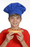 Hotdog kid. Royalty Free Stock Images