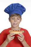 Hotdog kid. Stock Images