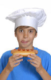 Hotdog kid. royalty free stock photo