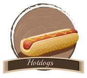 Hotdog label Stock Images