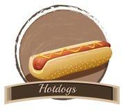 Hotdog label Stock Images