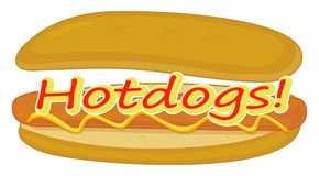 A hotdog label Royalty Free Stock Photo