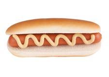 Hotdog mit Ausschnittspfad Stockbild
