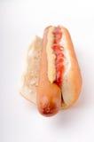 Hotdog mit Ketschup und Senf Stockfotografie