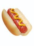 Hotdog mit Senf Lizenzfreie Stockbilder